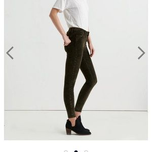 ❤️Lucky Brand Ava Mid Rise Skinny Velvet Pant